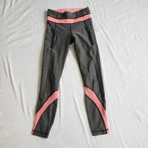 Lululemon inspire tight luxtreme gray pink sz 2